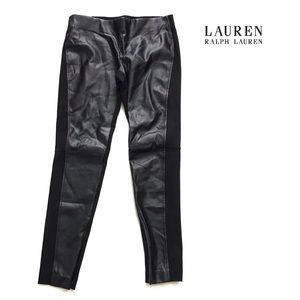 Lauren Ralph Lauren faux leather leggings Sz 6
